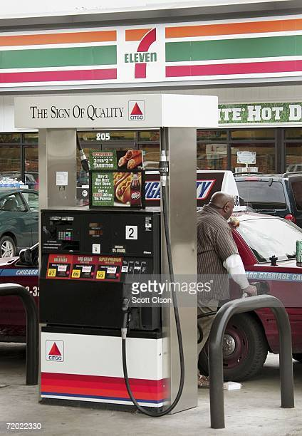 A customer pumps gas at a 7Eleven store September 27 2006 in Forest Park Illinois 7Eleven announced after their 20year supply agreement ends this...