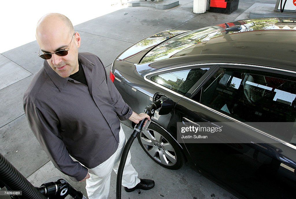 A customer pumps gasoline into his car at a service station May 7, 2007 in San Francisco, California. Gas prices reached a record national average price of $3.07 per gallon of regular unleaded, up over twenty cents in the past two weeks. San Francisco leads the nation with the highest average price of $3.49 per gallon.