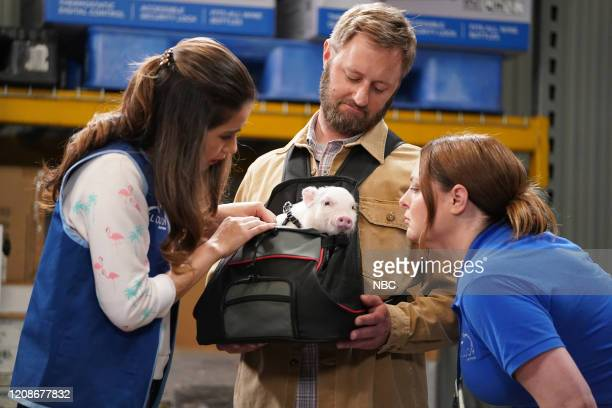 """Customer Safari"""" Episode 520 -- Pictured: Nichole Bloom as Cheyenne, Rory Scovel as Dr. Brian Patterson, Lauren Ash as Dina --"""