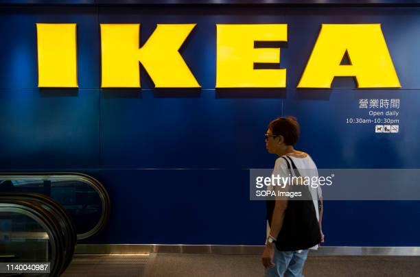 Customer seen entering into Swedish Ikea furniture company store in Causeway bay.