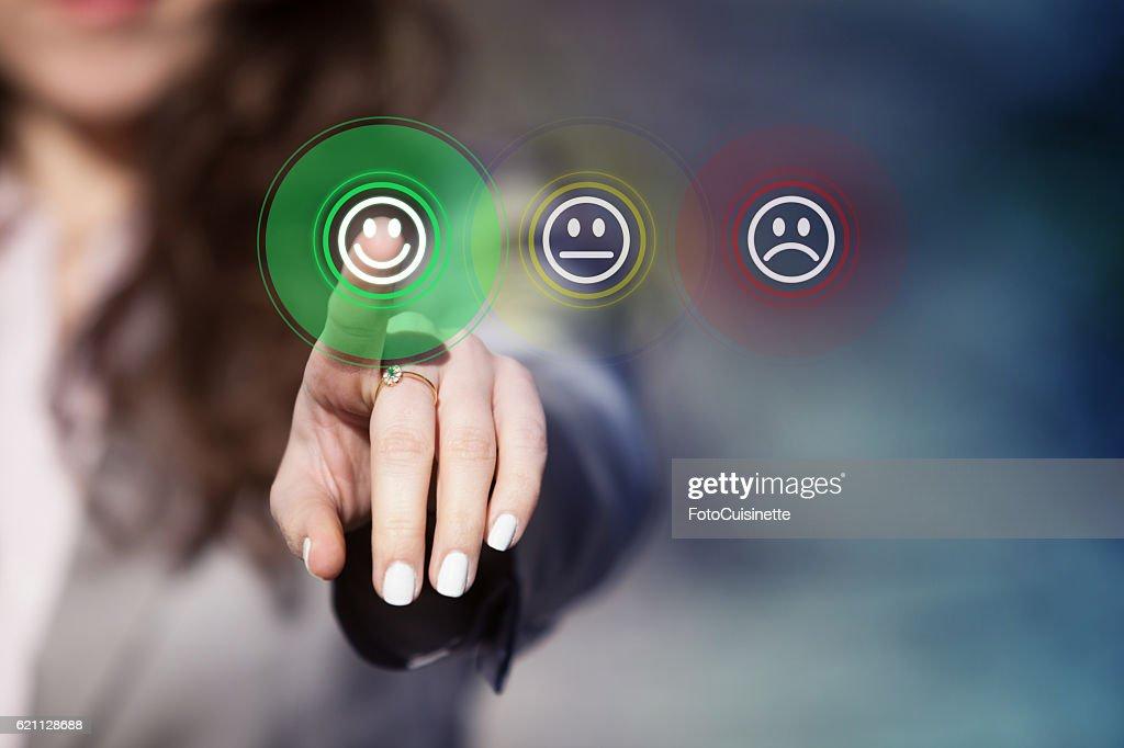 Customer service evaluation. : Stock-Foto