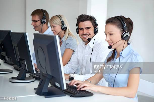 Customer service operators at work