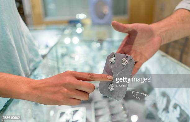 Customer shopping at a jewelry store