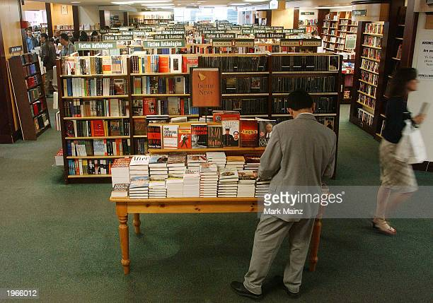 Customer shops at Barnes and Noble in Rockefeller Center May 1, 2003 in New York City.