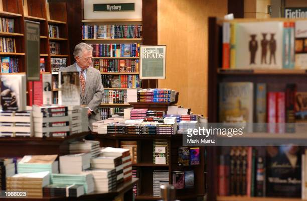 A customer shops at Barnes and Noble in Rockefeller Center May 1 2003 in New York City