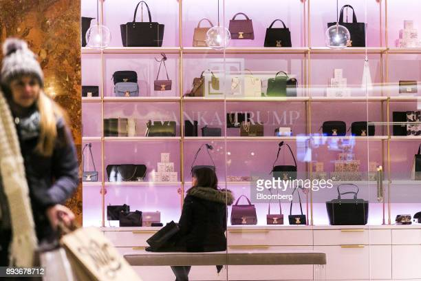 A customer sits inside an Ivanka Trump brand store at Trump Tower in New York US on Thursday Dec 14 2017 Trump's new store marks her second foray...