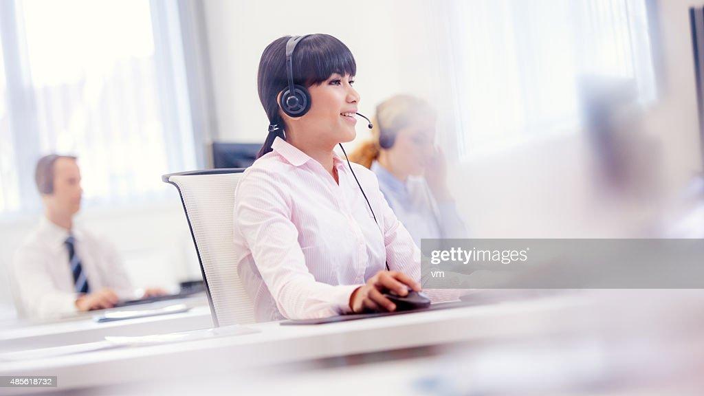 Customer support center : Stock Photo