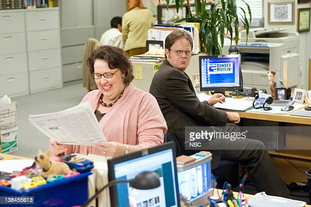 THE OFFICE Customer Survey Episode 6 Pictured Phyllis Smith as Phyllis Lapin Rainn Wilson as Dwight Schrute