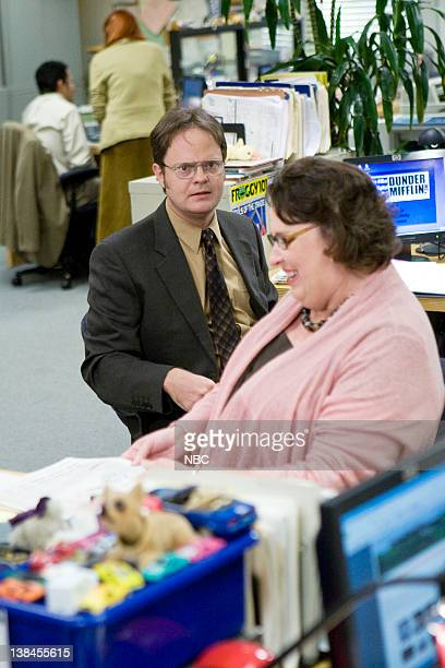 THE OFFICE Customer Survey Episode 6 Pictured Rainn Wilson as Dwight Schrute Phyllis Smith as Phyllis Lapin