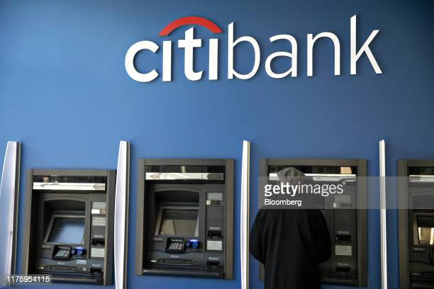 Customer uses an automated teller machine at a Citigroup Inc. Citibank branch in Chicago, Illinois, U.S., on Saturday, Oct. 12, 2019. Citigroup is...