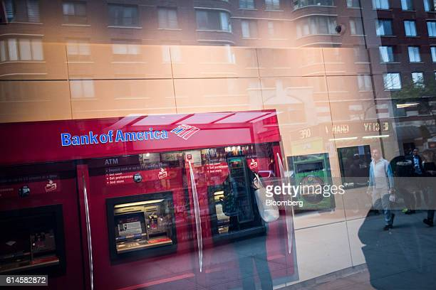 A customer uses an automated teller machine inside a Bank of America Corp branch in New York US on Wednesday Oct12 2016 Bank of America Corp is...