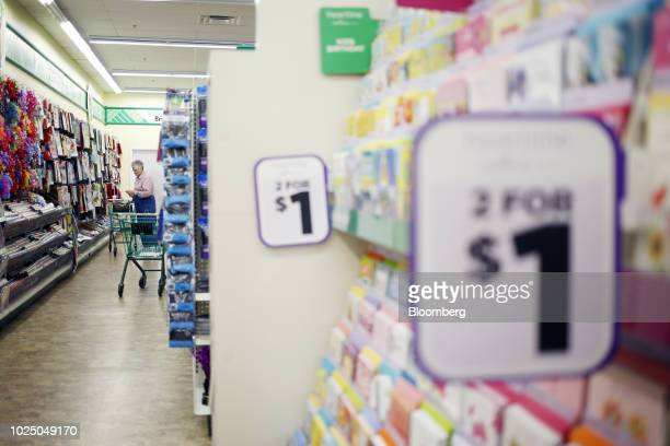 A customer view merchandise displayed for sale at a Dollar Tree Inc store in Louisville Kentucky US on Friday Aug 24 2018 Dollar Tree Inc is...