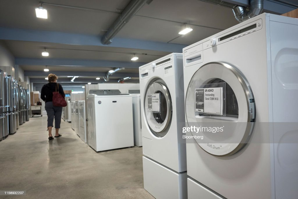 A Customer Views Washing Machines Displayed For Sale At The Airport News Photo Getty Images