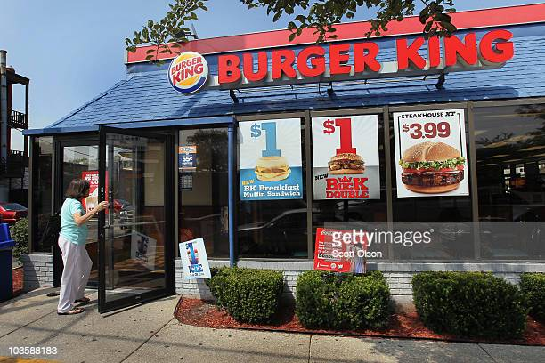 A customer walks into a Burger King restaurant on August 24 2010 in Chicago Illinois Burger King Holdings Inc the No 2 US burger chain reported its...