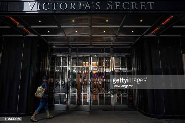 Customer walks into a Victoria's Secret store in Midtown Manhattan, March 1, 2019 in New York City. Victoria's Secret is closing 53 more stores, its...