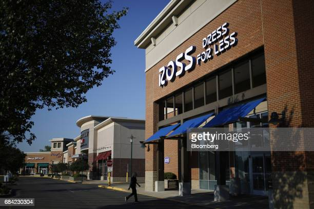 Customer walks towards the entrance of a Ross Stores Inc. Location in Louisville, Kentucky, U.S., on Monday, May 15, 2017. Ross Stores Inc. Is...