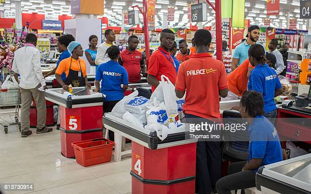 Customers are waiting at the checkouts at Palace Supermarket in Accra on September 08 2016 in Accra Ghana