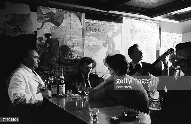 Customers at the Candlelight Club a Polish nightclub at Chepstow Villas Kensington London 22nd October 1955 Original publication Picture Post 8104...