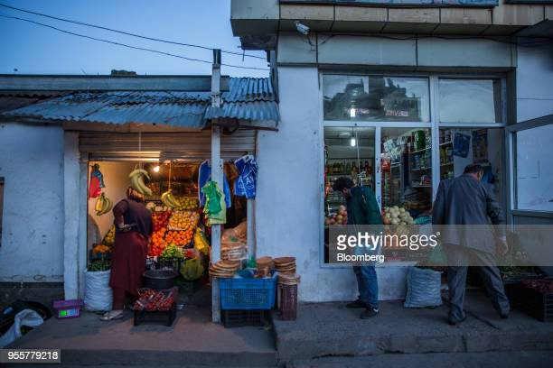 Customers browse fruit on display at a store in Dushanbe Tajikistan on Saturday April 21 2018 Flung into independence after the Soviet Union...