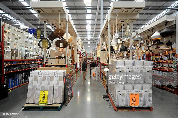 Do it yourself store chain stock photos and pictures getty images customers browse in a lighting aisle in a bunnings warehouse store operated by westfarmers ltd in solutioingenieria Choice Image