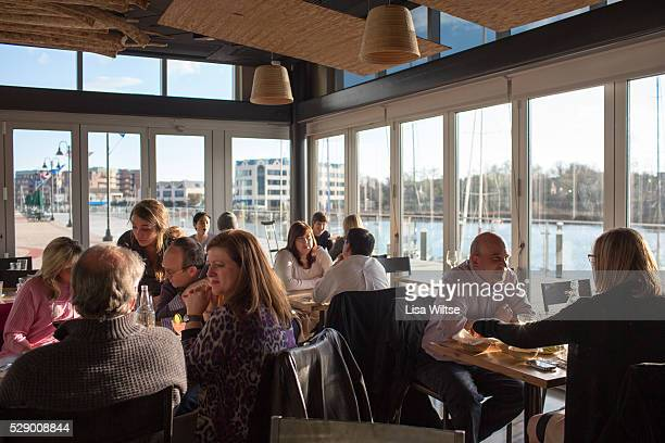 Customers dining at Paloma in Stamford Connecticut Photo by Lisa Wiltse