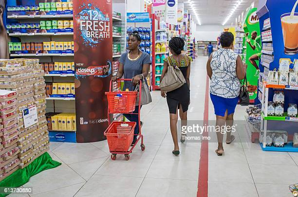 Customers during their shopping at the Palace supermarket on September 08 2016 in Accra Ghana