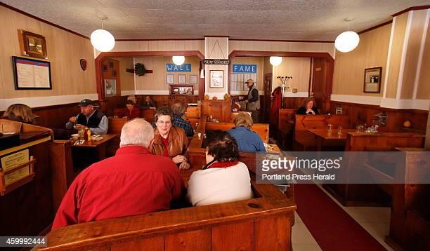 Customers eat breakfast at the Ebb Tide Restaurant in Boothbay Harbor on Thursday, December 4, 2014. The restaurant closed on Thursday after being in...