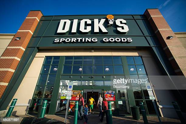Customers enter a Dick's Sporting Goods retail location in Paramus US on Saturday Nov 16 2013 Dick's Sporting Goods may report 3Q EPS slightly ahead...