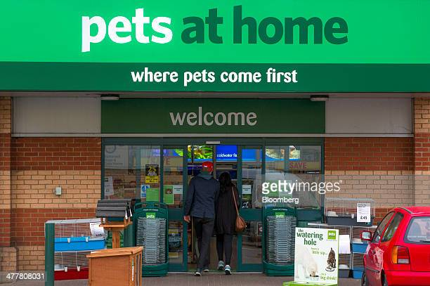 Customers enter a Pets at Home Ltd store in London UK on Monday March 10 2014 Pets at Home majorityowned by privateequity company KKR Co told...