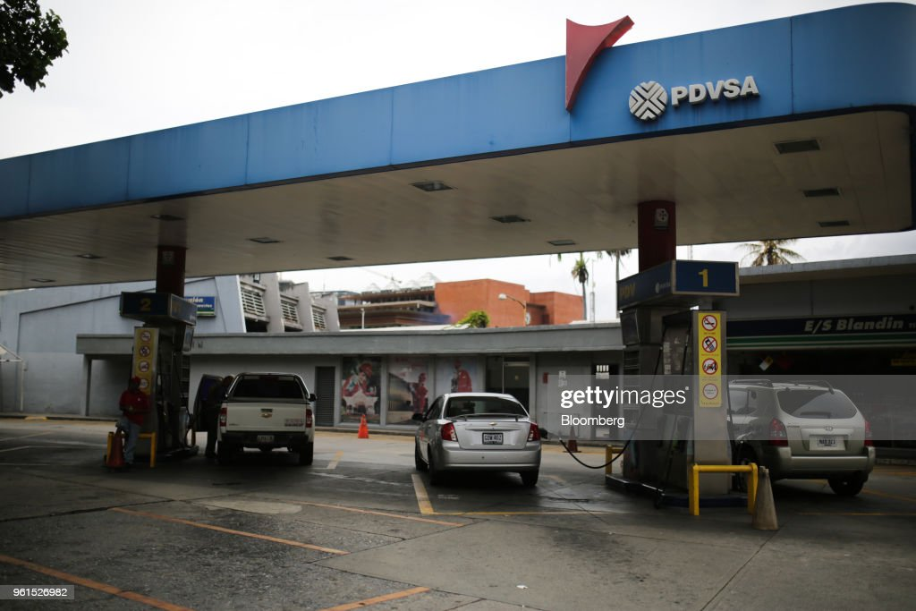 Petroleos De Venezuela SA  Gas Station As U.S. Sanctions Barely Touch Oil Sector