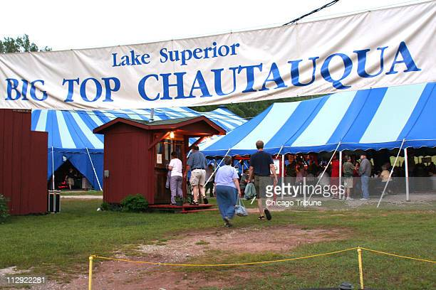 Customers gather for a night of music and fun at the Big Top Chautauqua just outside Bayfield Wisconsin Among this season's performers BB King and...