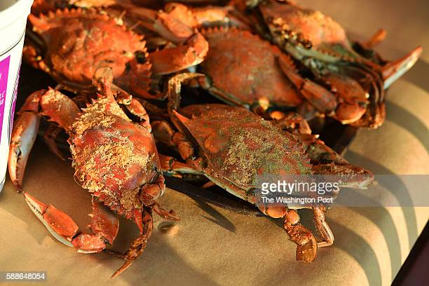 Customers have enjoyed decades of blue crabs and seafood at the popular Harris Crab House in Grasonville Maryland on August 06 2016 Weekend section'...