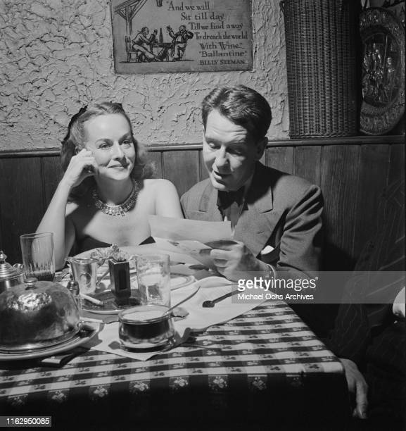 Customers having dinner at the 21 Club restaurant and speakeasy on West 52nd Street in New York City US September 1945