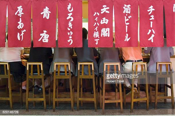 Customers in Saki Bar in Osaka