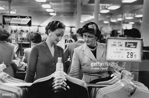 Customers in the clothing department of Marks Spencer's Oxford Street branch 10th September 1955 Original Publication Picture Post 7984 Quality Value...