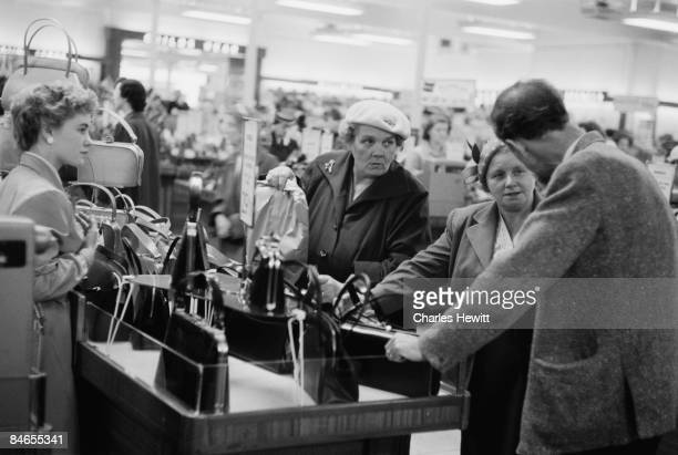 Customers in the handbag department of a Marks Spencer's store 10th September 1955 Original Publication Picture Post 7984 Quality Value And Good...