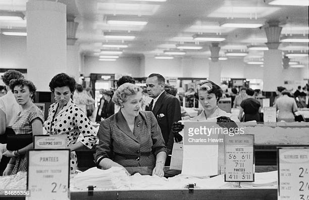 Customers in the lingerie department of a Marks Spencer's store 10th September 1955 Original Publication Picture Post 7984 Quality Value And Good...