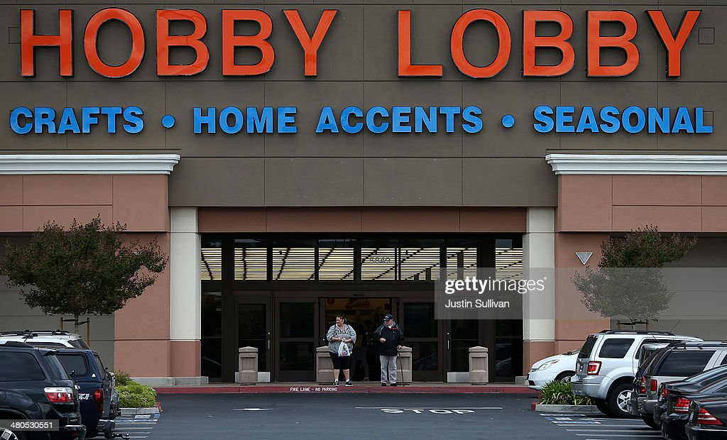 Hobby Lobby At Center Of Supreme Court Case Against Affordable Care Act Birth Control Clause : News Photo