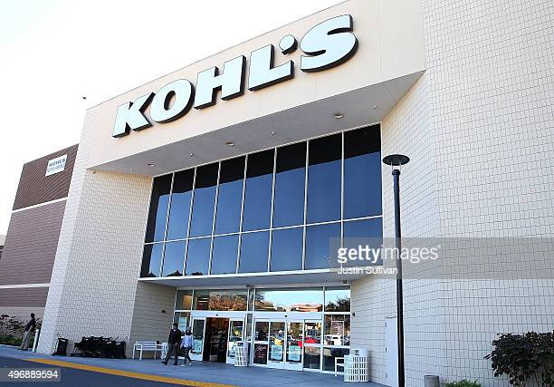 Customers leave a Kohl's store on November 12 2015 in San Rafael California Kohl's reported a betterthanexpected third quarter earnings with a net...