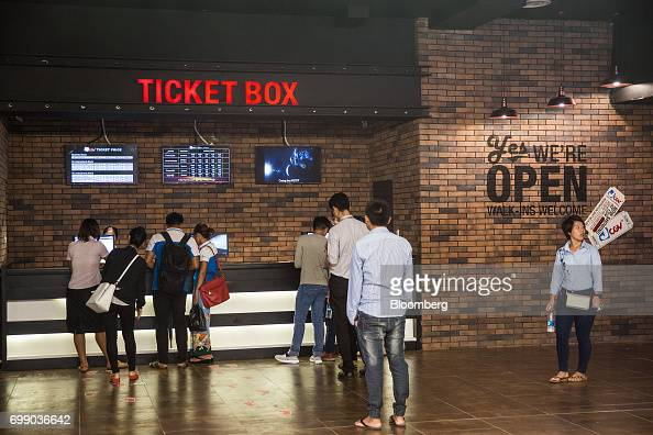 Customers Line Up At A Box Office To Buy Movie Tickets At A Theater News Photo Getty Images