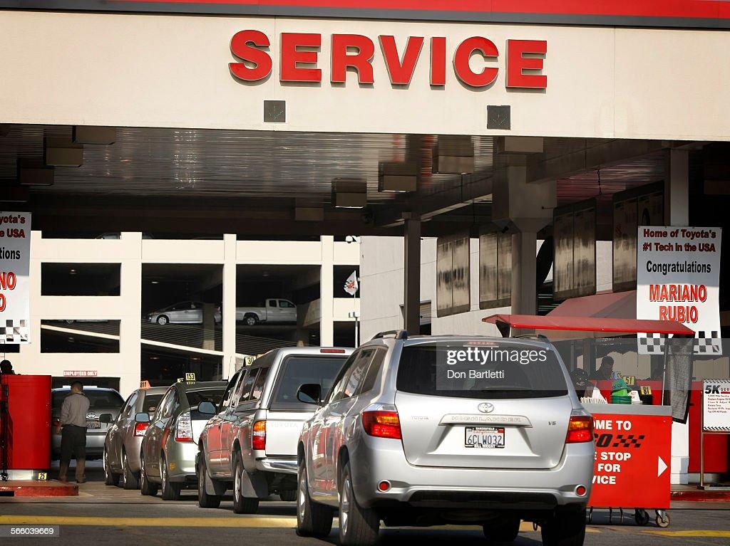 EL MONTE, CA. Customers Line Up At Longo Toyota