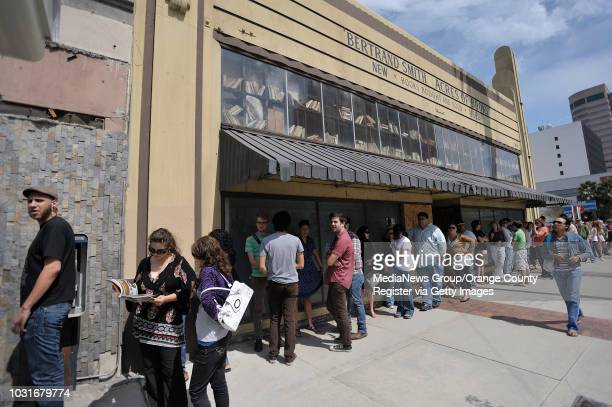 USA Customers line up to get in to Acres of Book in Long Beach Calif on July 10 2010 The ArtExchange who now owns the iconic Long Beach building...