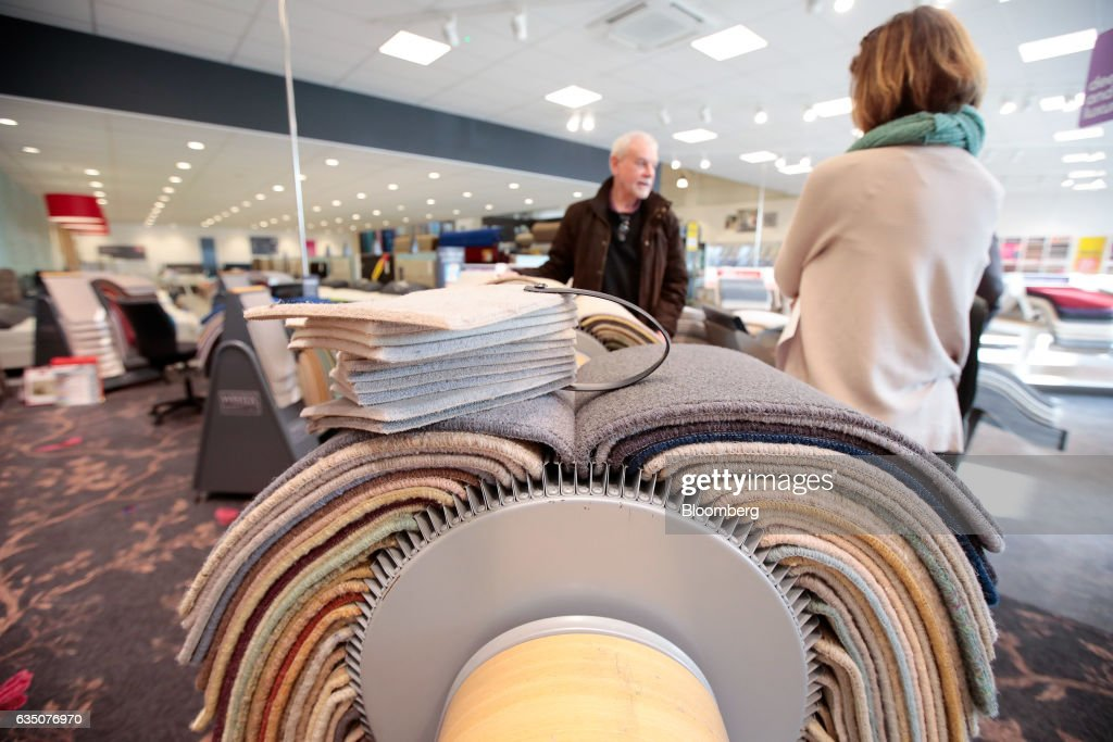 Inside A CarpetRight Plc Store As Retailer Leads U.K. Stock Gains : News Photo