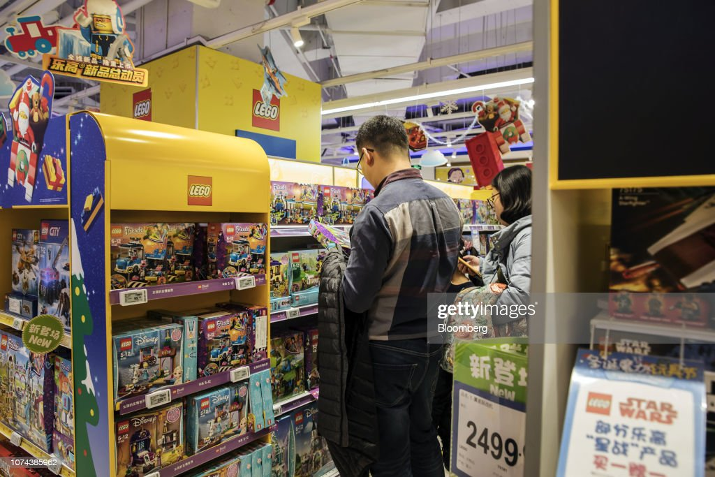 Customers Look At Lego A S Products At A Toys R Us Asia Store In