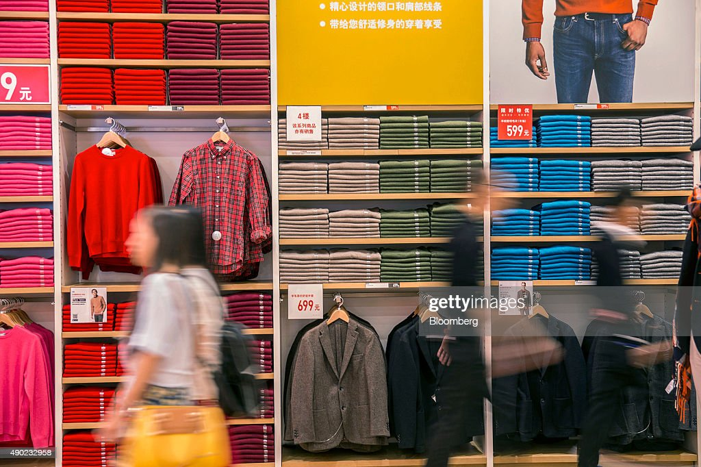 """Uniqlo Shanghai Flagship Store Opens """"Magic For All"""" Floor : News Photo"""
