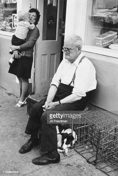Customers outside a shop in Listowel County Kerry Ireland 1973