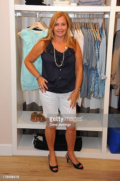 Customers pose with styled outfits at the LOFT store event on July 16 2011 in Corte Madera California
