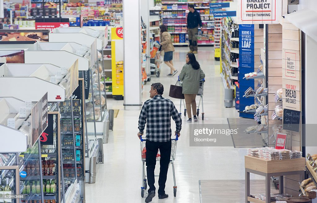 Retail Operations Inside A Tesco Plc Supermarket Grocery Store : News Photo