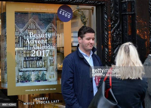 Customers queue around the block for the launch of the 2017 Liberty London Beauty Advent Calendar the best selling product in the company's history...