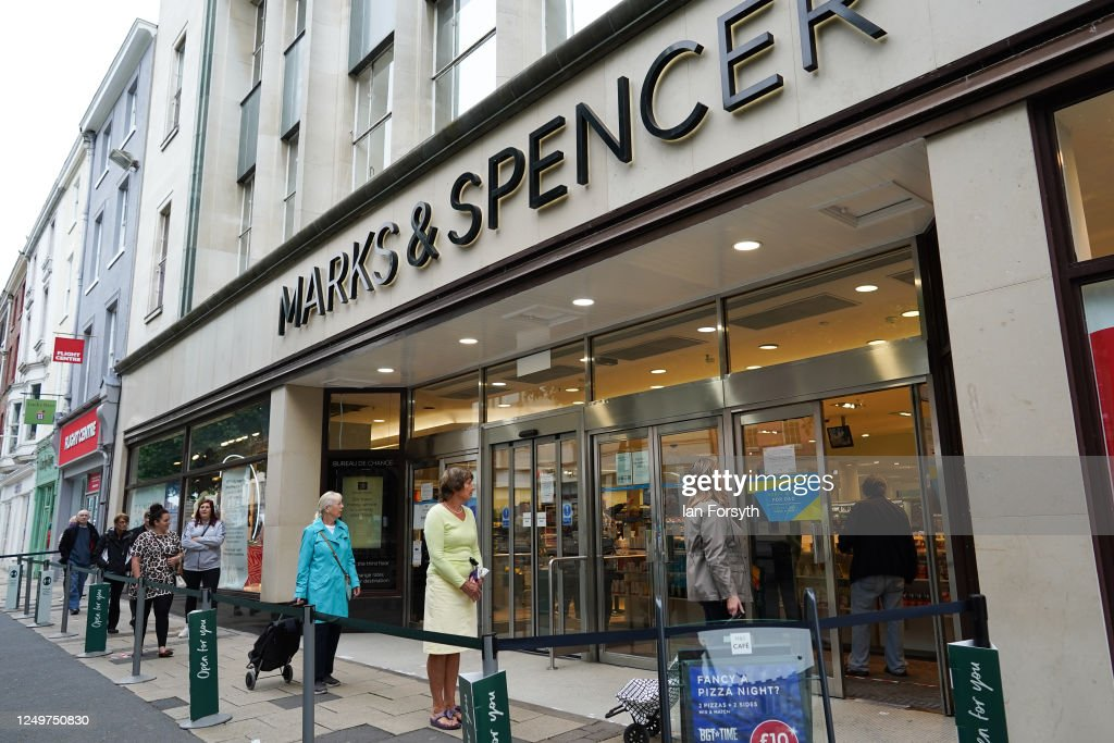 Customers Queue To Enter Marks And Spencer In York As Non Essential News Photo Getty Images